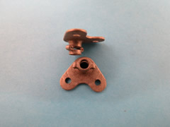 Corner Fixed Steel - Vintage Boots Wing Nut